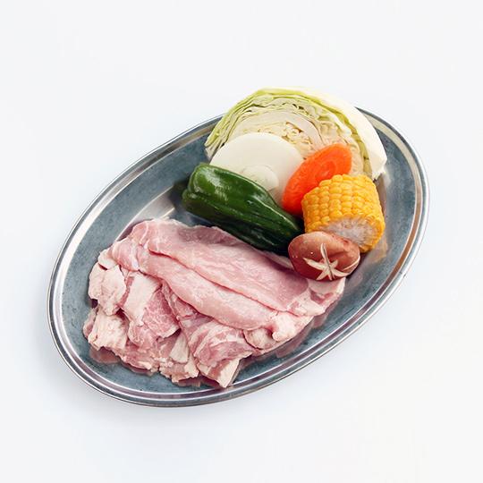 屋外石焼バーベキュー(牛・豚セット)