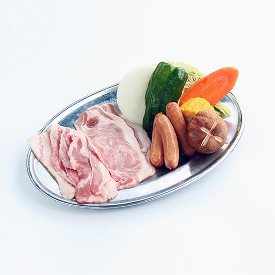 屋外石焼バーベキュー(豚・ウィンナーセット)