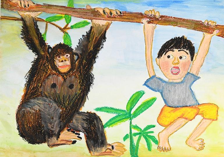 チンパンジーとぼく