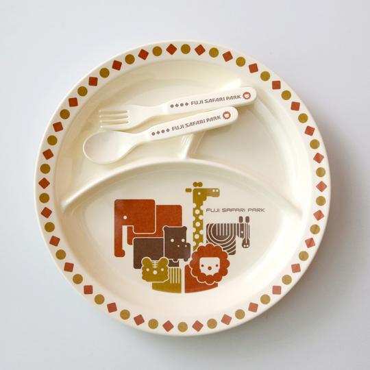 富士サファリパーク メラミン食器セット(キッズ用)