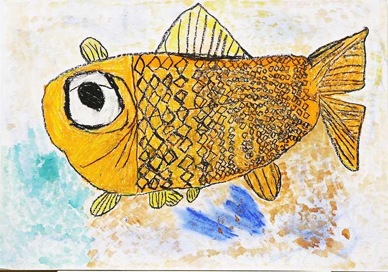 くいしんぼうな金魚