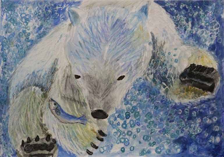 あわの中のいわしと白熊